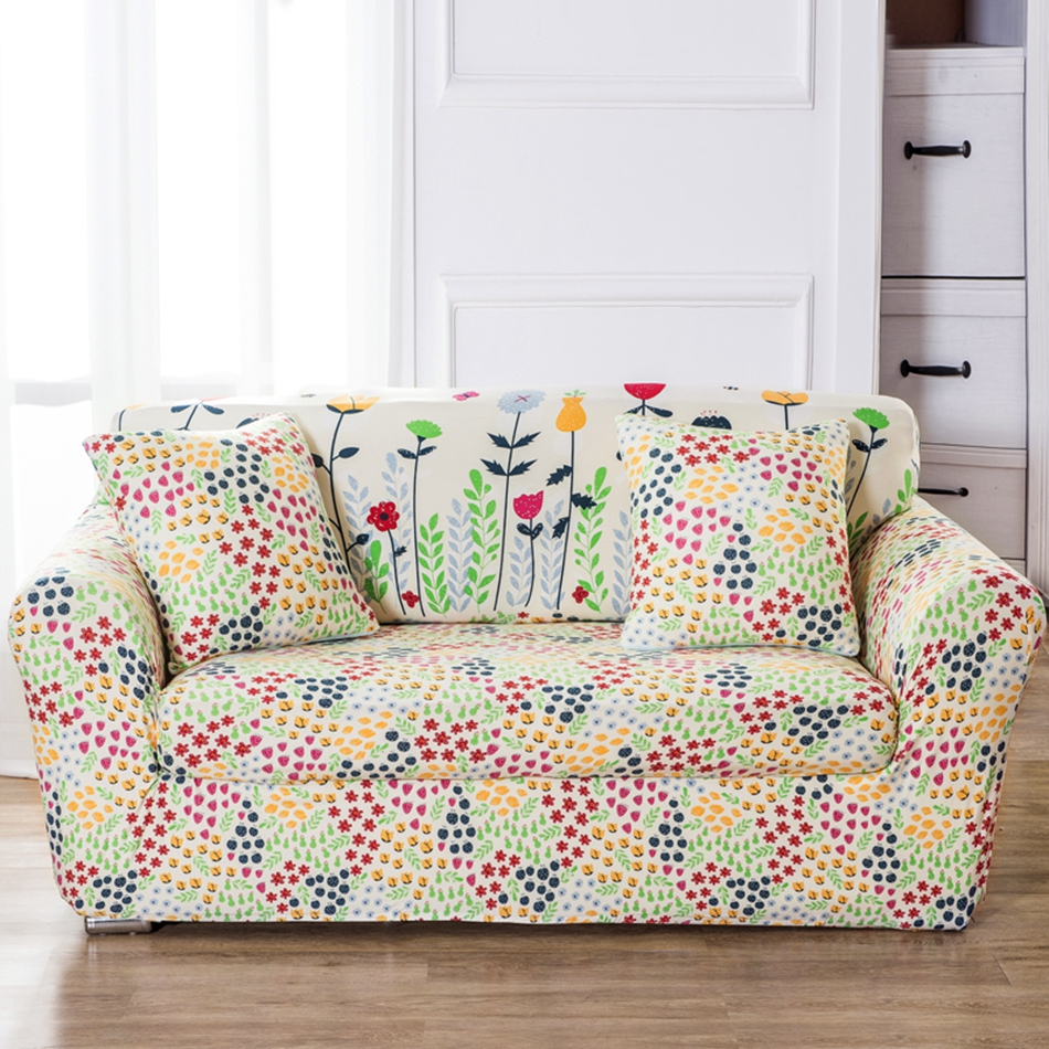 Flowers Couch Sofa Covers Universal Stretch Corner Slipcovers Multisize  Removable Flowers Garden Elastic L Shape Sofa Covers