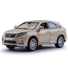 Simulation Lexus RX450H Alloy Car Model Children Toy Diecast Vehicles Gift Musical Flashing Retail box