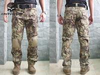 emersongear gen2 боевых брюки с наколенниками военная airsoft тактические передач военная камуфляж брюки многокамерный acu-пвр