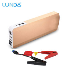 LUNDAHigh potencia real 18000 mah salto de arranque de Arranque de Emergencia 12 V, puede comenzar 5.0 Motor Diesel, Multi-Función de Cargador de Batería Del USB