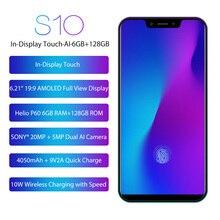Смартфон LEAGOO S10, 6 ГБ + 128 Гб, экран 6,21 дюйма, Восьмиядерный, Android 8,1, 4G, мобильный телефон 20 МП, 4050 мАч, сканер отпечатка пальца, Беспроводная заря...