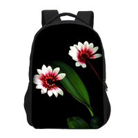 VEEVANV Tulips School Backpack Girls Shoulder Bag Fashion Design Flowers 3D Printing Backpack Children Mochila Casual Daily Bags