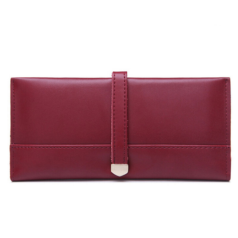 100% Genuine Leather Fashion Women Wallet Luxury Famous Brand Ladies Credit Card Holder Hasp Clutch Purse Long Hasp Coin Pocket