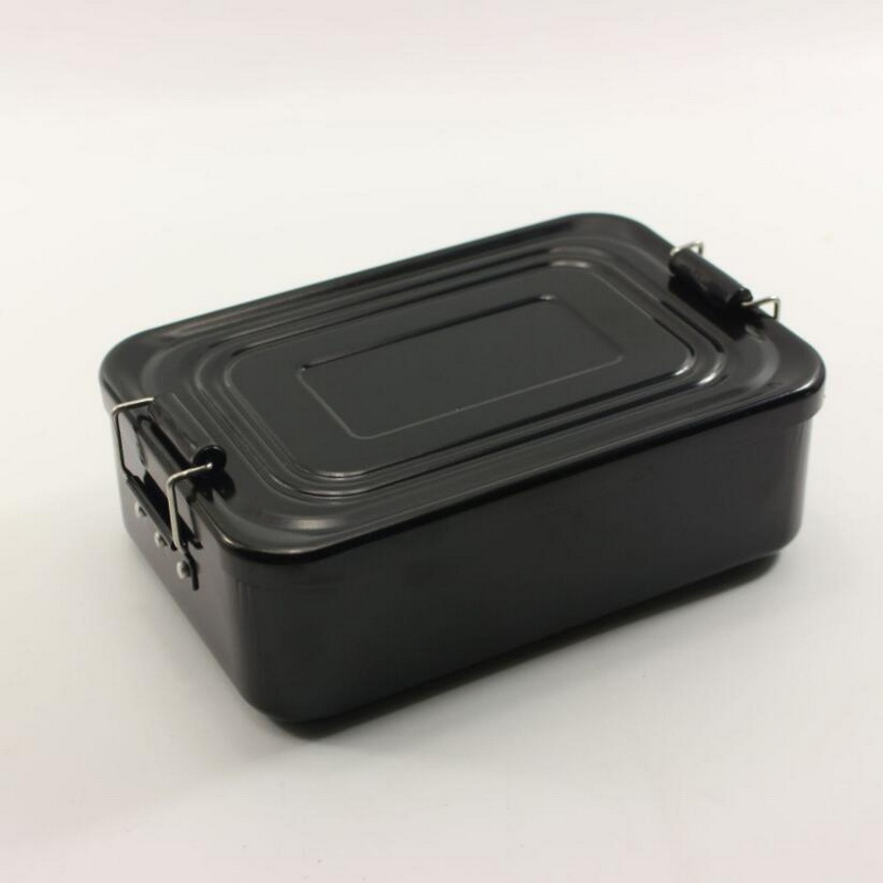 Aluminum Lunch Box, Aluminum Outdoor Portable Military Lunch Box Camping Cooking Cookware, Hunting Survival Container.