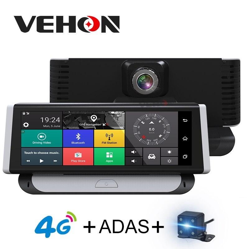 Vehon 4 г ADAS Видеорегистраторы для автомобилей Камера GPS 7.84 Android 5.1 dashcam регистратор Full HD 1080 P видео Регистраторы Двойной объектив DVRs GPS навигации