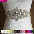 XW33 Free shipping bridal belts with crystals bridal belt belt for wedding dress