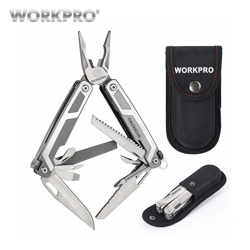 WORKPRO 16 in1 Multi Tools Plier Stainless Steel Plier Outdoor Camping Tool with Knife Scissors Saw Screwdriver workpro 18 in 1 magnetic screwdriver tool set hand tool kit with rack workshop master