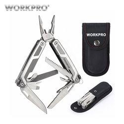 WORKPRO 16 in1 alicates multifuncionales Multi herramientas alicate de acero inoxidable herramienta de Camping al aire libre
