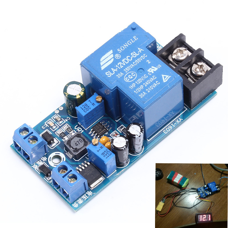 12V Battery Automatic Switch Module Power ON/OFF Control Charging Protection Board Battery Charging Relay Voltage Regulator
