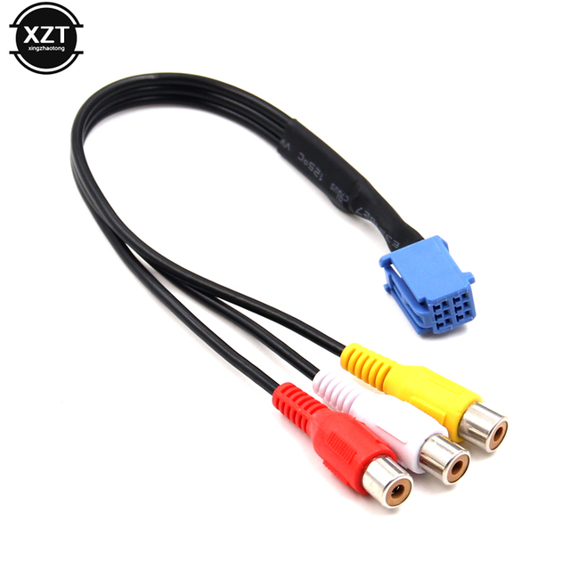 1pcs For Car RCA Adapter VTR Cable For Toyota 6 Pin Blue AV Port connector for NSZT W62G NSCT D62D(N161) hot sale