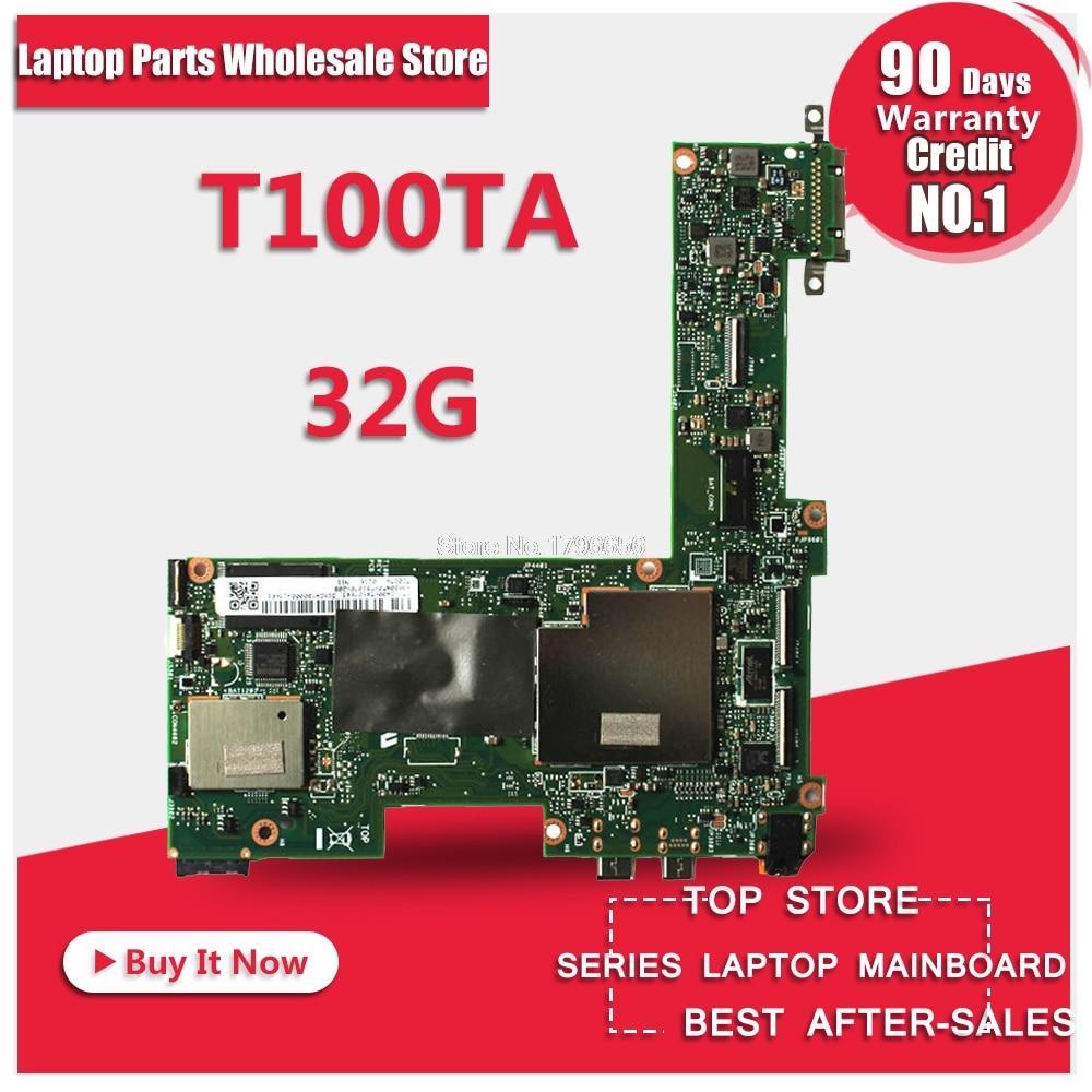 цена на T100TA Motherboard REV2.0 32G RAM For ASUS T100TA laptop Motherboard T100TA Mainboard T100TA Motherboard test 100% OK