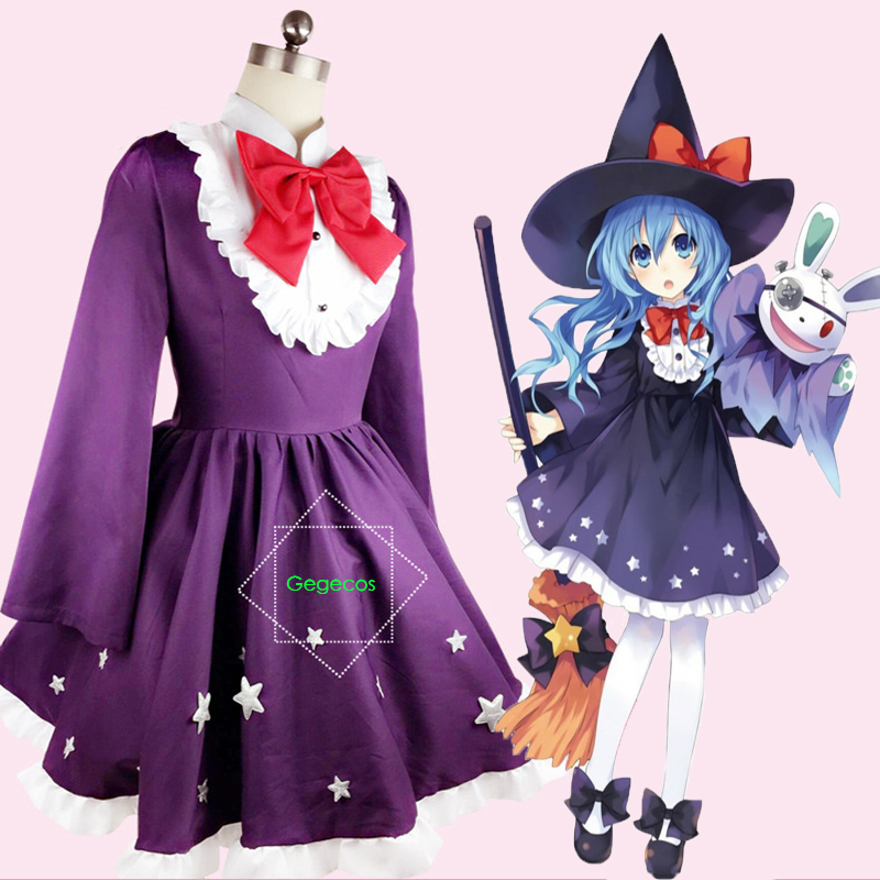 Anime Date A Live Cosplay Costumes Sorceress Yoshino Hermit Cosplay Costume Halloween Carnival Party Magician Cosplay Costumes