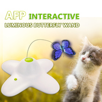 Luminous Butterfly Wand Interactive Cat Toy Electric Rotating Butterfly Scratch Toy for Cat Pet