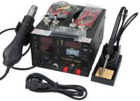220V SAIKE 909D Soldering/Hot air gun rework station 3 in1 Soldering iron+Hot Air Gun+Power Supply+Welding gift