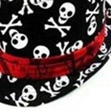 Mach niños bebé Niños Niñas Cap sombrero fedora-negro con patrón de cráneo ebc028177a0