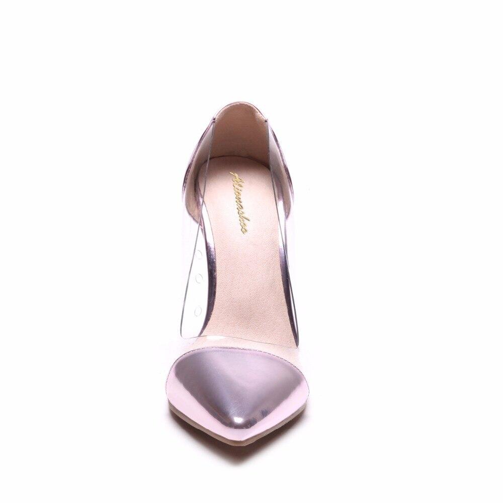 Alionashoo Pvc Élégant Stiletto Eté 2018 Gold Tailles Clair Haute Pour Plus silver Sexy 34 Femme Chaussures Nouvelle Pompes Sur 48 Printemps pink Talons Slip À pW0qpwrY