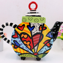 Explosive Creative Large Size New and Unique Ceramic Painted Teapot Water Pot Teaware Home Decoration