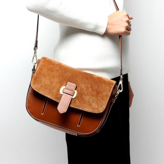 SUNNY SHOP 2017 New Vintage Small  Women Messenger Bags Brand Designer Genuine Leather Women Bag Real Leather Shoulder Bags