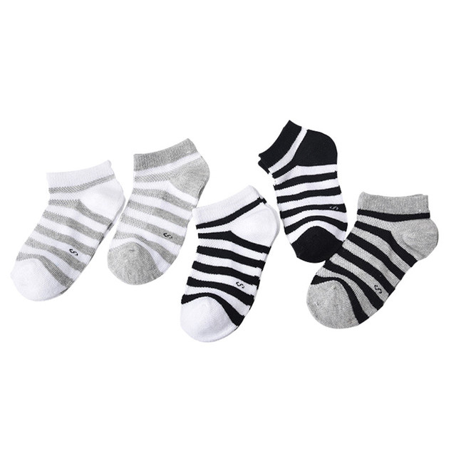 5 Pair=10PCS/lot Baby Socks Neonatal Spring Summer Mesh Cotton Plain Stripes Kids Girls Boys Children Socks For 4-12 Year