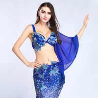 Women Belly Dance Costume Dancewear Belly Dancing Clothes Oriental Dance Outfits Bra+Long Skirt for Women 2 Pieces Set for Women