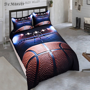 DeMissir HD 3D Basketball European Twin Full Queen King Sanding Duvet Cover Set 2/3Pcs Set Bedding Sets housse de couette