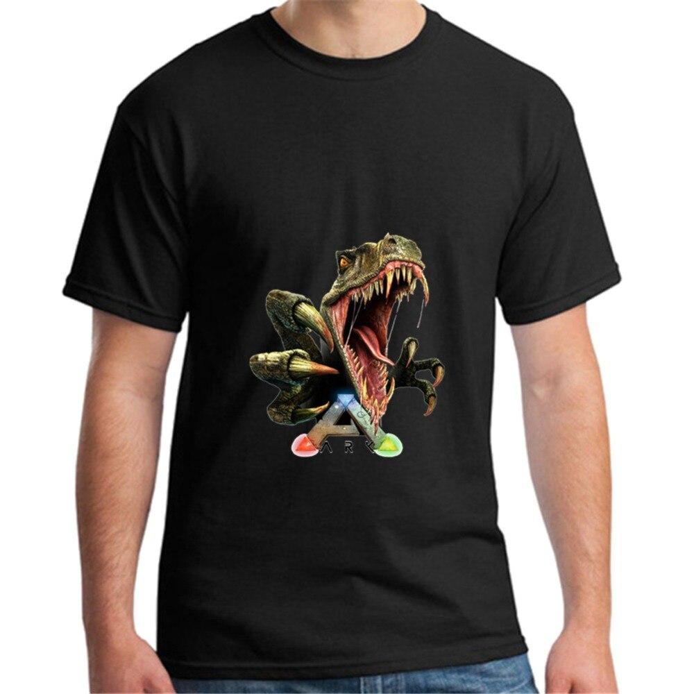 Vente chaude Arche Survie Évolué T-Shirts vidéo jeu de Jeu T Chemises Casual Nouveauté dino logo dinosaures drôle COOL Animaux hommes tops