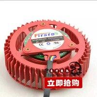 Nueva ati amd fd7525u12d 1.70a hilos versión pública de la gráfica turbo ventilador pwm de control de temperatura