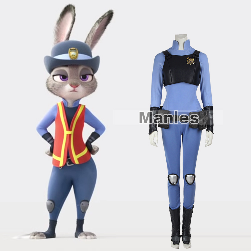 Manles Zootopia Cosplay Costume Zootopia Officer Judy Hopps Costume Party Costume Halloween Costume for Women