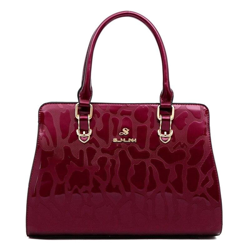 Angemessen Neue Mode Serpentin Frauen Handtaschen Patent Leder Damen Schulter Taschen Weibliche Mädchen Marke Luxus Crossbody-tasche Europäischen Design StraßEnpreis