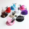5 см мини-цилиндры девочки аксессуары для волос ну вечеринку перо шапочка Fascinators бесплатная доставка MFF05-018