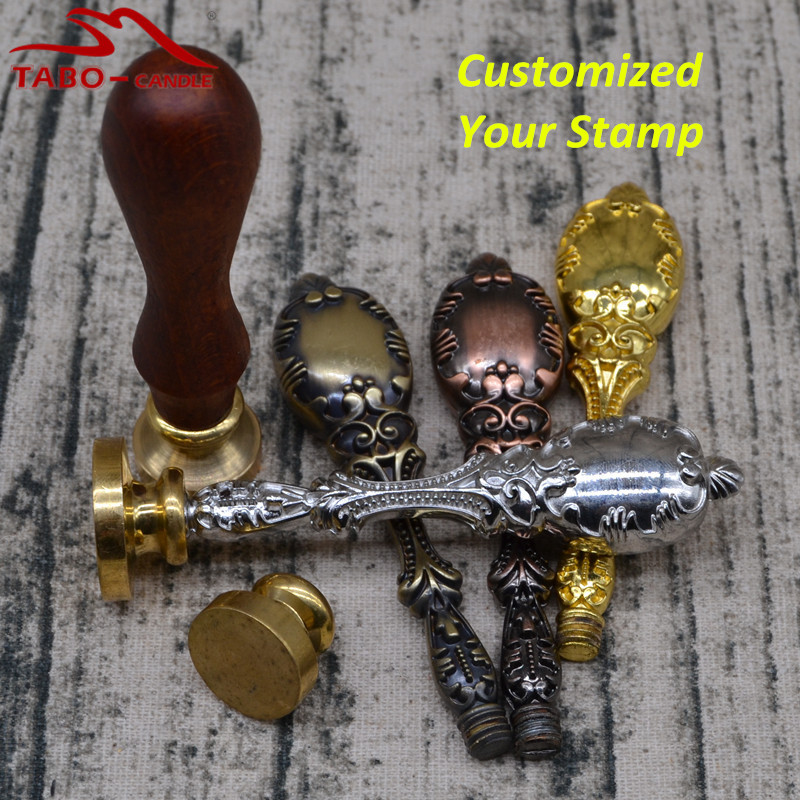 Customized Wax Seal Stamp for Individual Important Document Sealing Classic Silver Golden Metal & Rosewood Handle claw of dragon style rings golden bronze 3 pcs