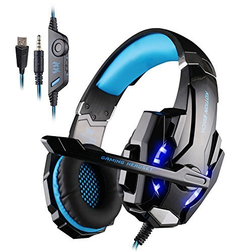 Original Gaming Headset for PlayStation 4 PS4 Tablet PC iPhone Samsung 3.5mm Headphone with Stereo HiFi Bass Microphone LED g1100 3 5mm pro gaming headset headphone for ps4 laptop crack pattern led led blue black red white