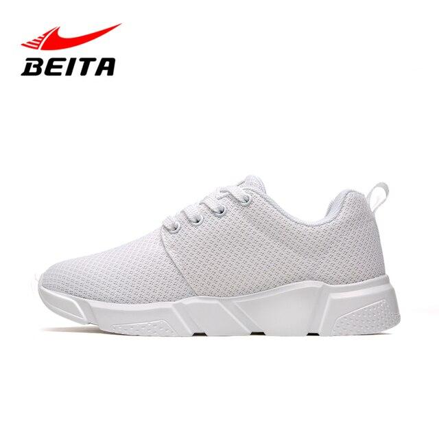 new style 2daf1 bd60a Zapatos Deportivos de Marca Beita Formadores De Diseño Desgaste Zapatos  Blancos de Las Mujeres Ligeras Zapatillas. Sitúa el cursor encima para  hacer zoom