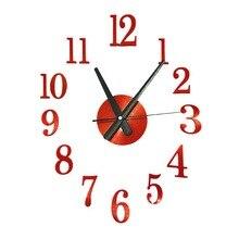 DIY Quartz Clock Silent Acryl Sticker Arabisch Aantallen Modern Design 3d Wandklokken Home Decor voor Kantoor Woonkamer Slaapkamer