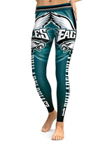 Donne Nfl Pittsburgh Steelers Logo Leggings di Fitness Fibra Elastica Hiphop Partito della Ragazza Pon Pon Rooter Allenamento Pantaloni Pantaloni