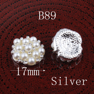 Image 4 - 120PCS Vintage Pentagram/round/flower Metal Rhinestone Buttons Bling Flatback Flower Centre Crystal Buttons for Hair accessories