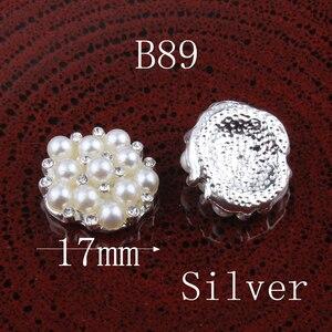 Image 4 - Botones de Metal con estrás, pentagrama Vintage/redondo/Flor, ostentosos botones de cristal para accesorios para el cabello, 120 Uds.