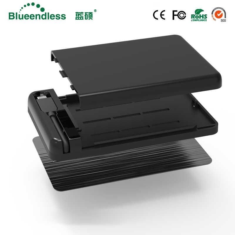 """أداة مجانية نوع C كابل يو اس بي البلاستيك Sata إلى USB3.0 تصل إلى 6Gbps ل 7-9.5 مللي متر قرص صلب 2.5 """"Hdd Case 2.5 USB 3.0 HDD SSD الضميمة"""