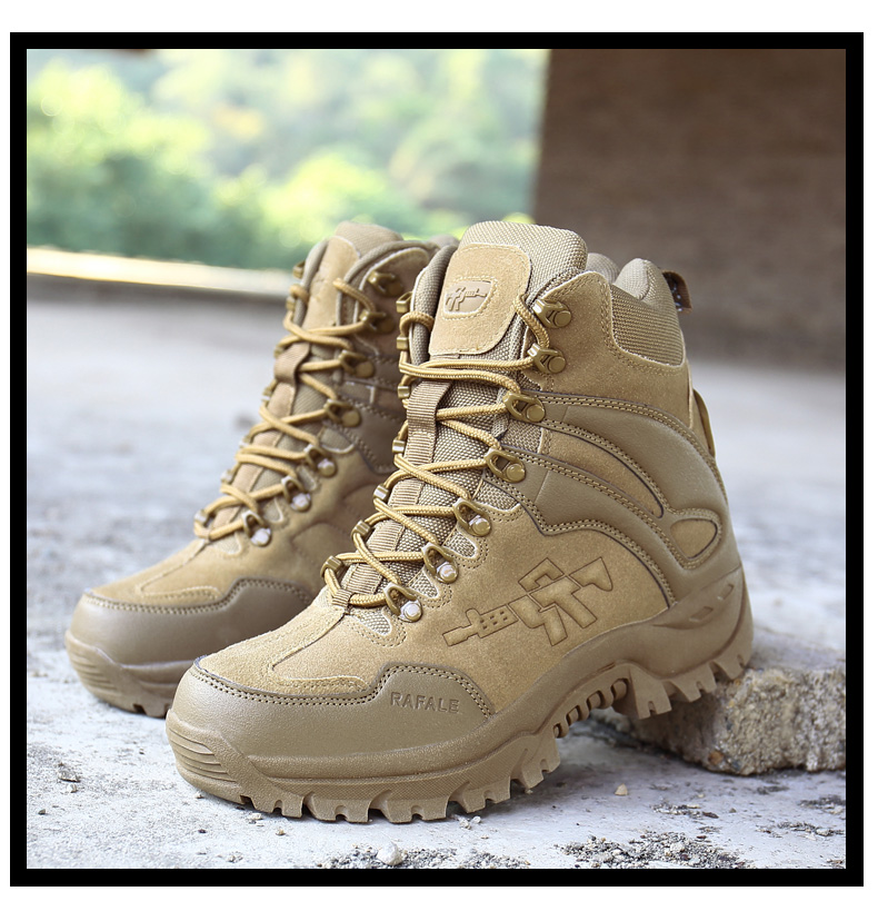 Brand Men's Boots Military boot Chukka Ankle Bot Tactical Big Size Army Male Shoes Safety Combat Mens Motocycle Boots (15)