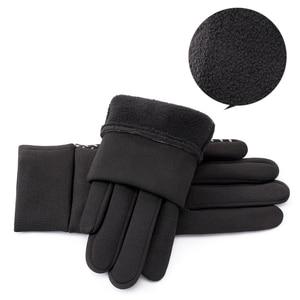 Image 3 - SHOUHOU Männer Herbst Winter Warme Futter Handschuhe Touch Bildschirm Beweis Wasser Handschuhe Reiten Radfahren Reisen Handschuhe