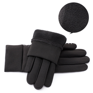 Image 3 - SHOUHOU Men Autumn Winter Warm Lining Gloves Touch Screen Proof Water Gloves Riding Cycling Traveling Gloves