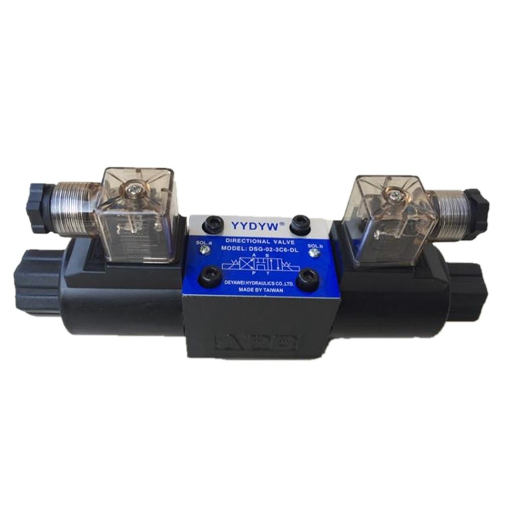 DSG Valve Solenoid Valve DSG-02-3C6-DL Solenoid Directional Valve DC24V AC220V Directrional Control Valve