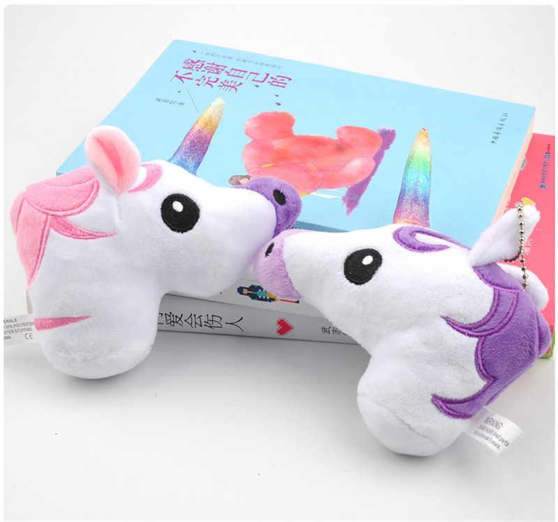 Горячая Распродажа радужные плюшевые игрушечные единороги милые аниме мультяшный Единорог куклы животных маленькие брелоки для сумки брелок