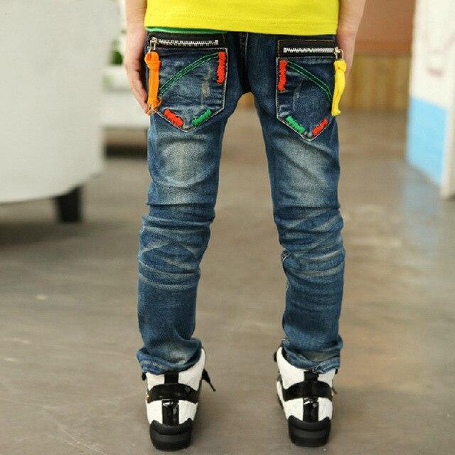 Шаровары джинсы детские нью-2014 известная марка мальчик джинсы брюки 2015 большего размера брюки новинка печать карманный тощий середина гарем детей джинсы