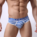 B1154 New Men's Cotton Striped Boxer Shorts Underpants Hot Slim Undies Underwear Fashion panties Boxers Brave Person