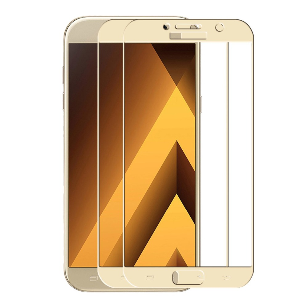 9H 3D Full Cover Glass For SAMSUNG Galaxy A3 A5 A7 2017 tempered Glass For SAMSUNG A320 A520 A720 Screen Protector Film
