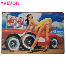 Plaque Metal Vintage Shabby Chic Wall Neon Signs Plate for Car Mechanic Repairing Lady Motor Gas Shop Poster 20x30cm