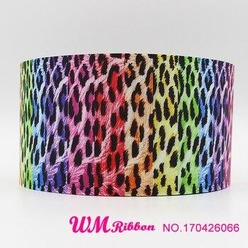 Q&N ribbon 3inch 75mm 170426066 colorful printed grosgrain ribbon webbing 50yards/roll for headband free shipping