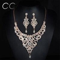 Femme Bijoux AAA Cubic Zirconia Diamond Earrings Necklace Jewelry Sets For Women Wedding Party Fashion Jewellery