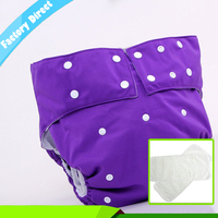 1 Sets 1 Diaper With 2 Inserts Adult Diaper Cloth Adjustable Reusable Ultra Absorbent Incontinence